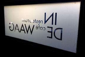 Diapositief logo uit folie
