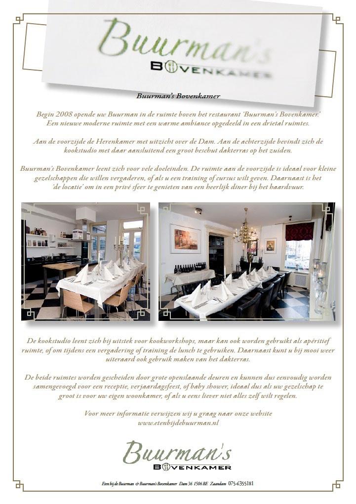 Flyer huiskamer restaurant