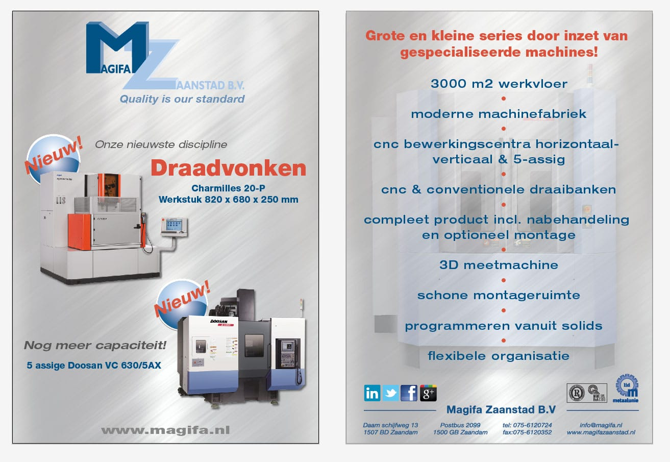 Flyer metaalbewerking