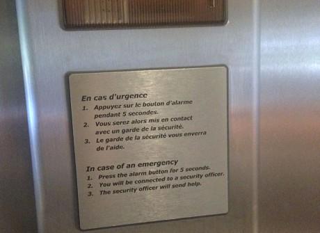 Gegraveerd liftpaneel