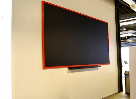 Groot blackboard voor kantoor