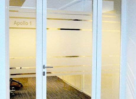 Privacy baan voor vergaderruimte