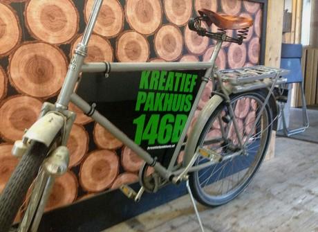 Reclame op fiets