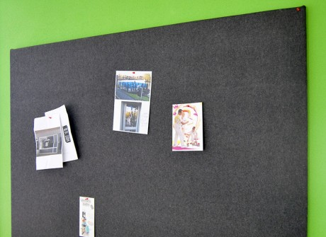 Vilt pinboard op kantoor