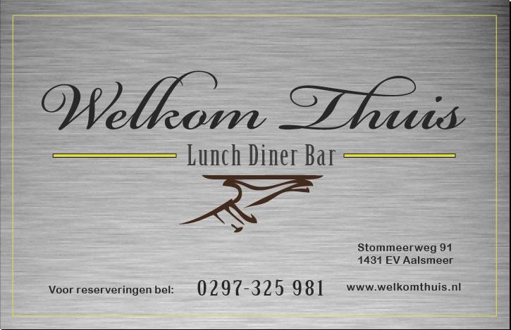 Visitekaartje lunch diner bar