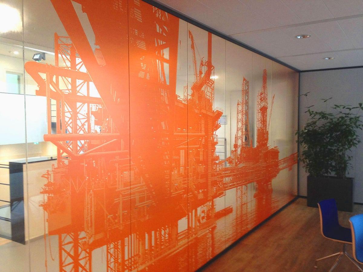 Print op glazen kantoorwanden