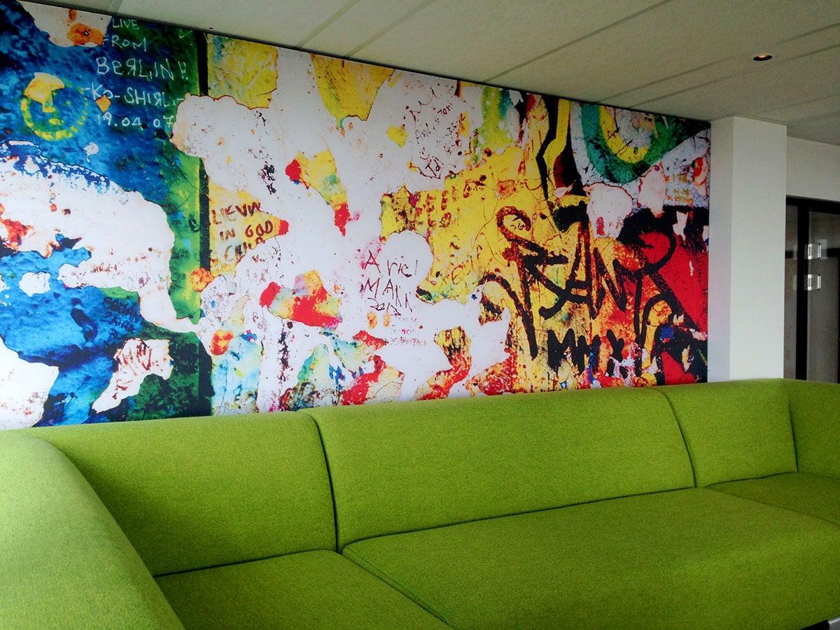 Textielwand print