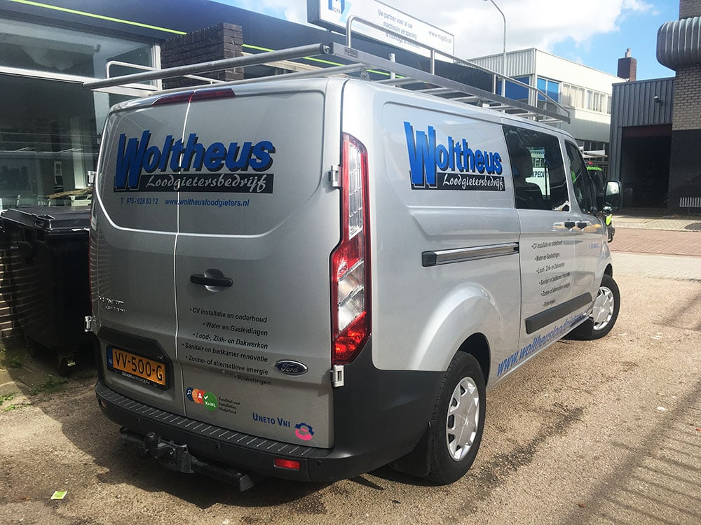 auto belettering ford transit custom 2