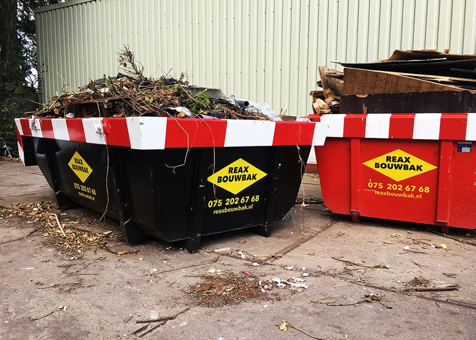 Reclame op bouwafval container 2