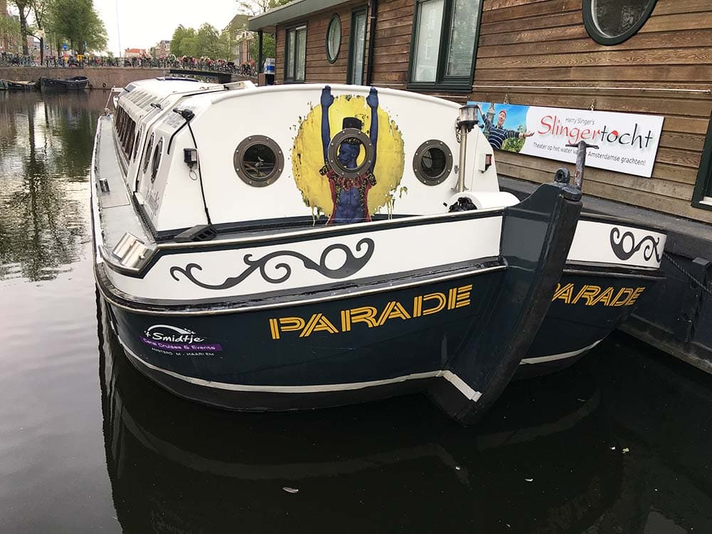 evenement stickers op boot