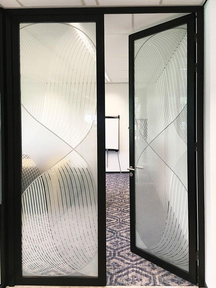 Originele patroon op glas
