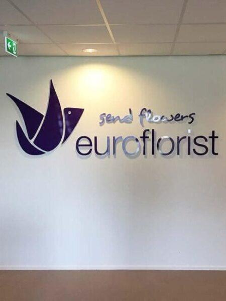 Uitstekend logo op muur