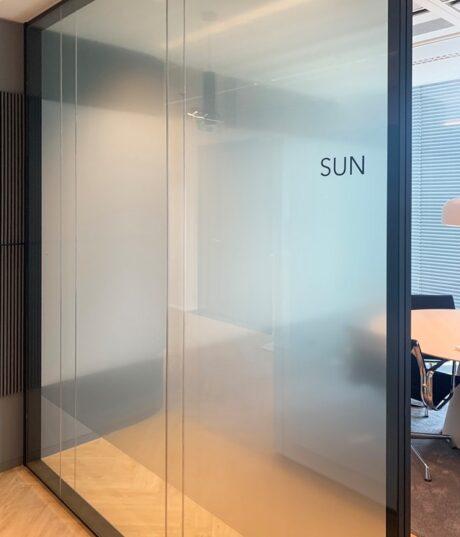Lichte privacy folie