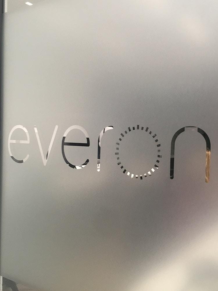 Privacy folie met logo