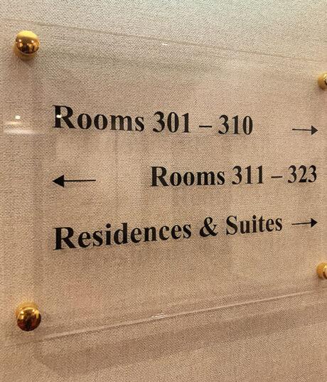 bewegwijzering hotel